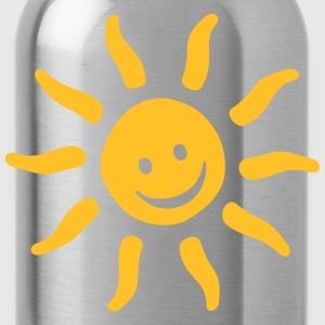 Be Happy Emojis - Summer  Sun Smile Shirts - Water Bottle