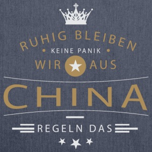 Ruhig bleiben China Langarmshirts - Schultertasche aus Recycling-Material