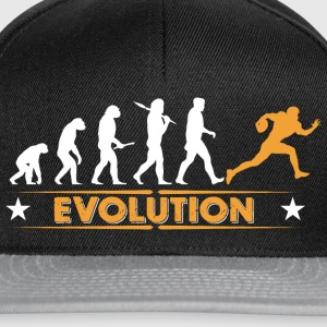 American Football - Evolution orange/weiss Baby Bodys - Snapback Cap