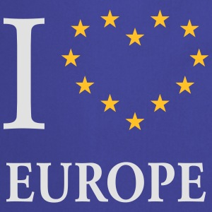 I Love Europe / I Heart Europe (Europa) Camisetas - Delantal de cocina