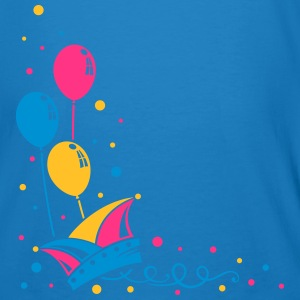 Carnival hat with balloons, streamer and confetti. - Men's Organic T-shirt
