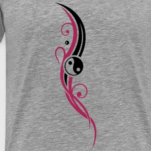 Yin & Yang symbol, Tribal and Tattoo Style. - Men's Premium T-Shirt