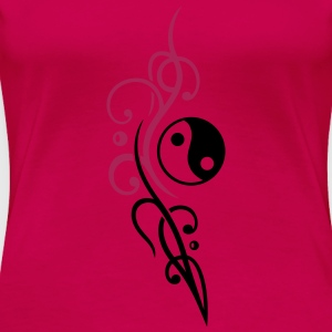 Yin & Yang symbool, Tribal en Tattoo Style Tops - Vrouwen Premium T-shirt