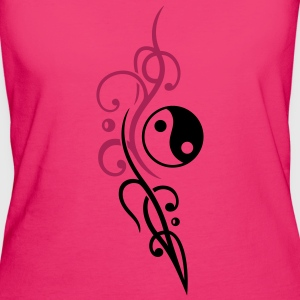Yin & Yang symbol, Tribal and Tattoo Style. - Women's Organic T-shirt