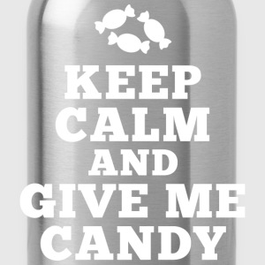keep calm give me candy T-Shirts - Trinkflasche
