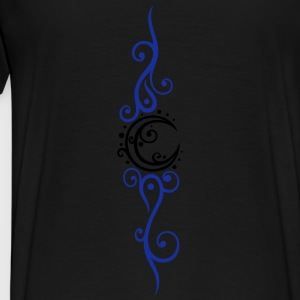 Filigree moon with ornament and stars. - Men's Premium T-Shirt