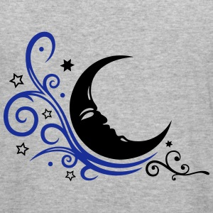Large moon with Tribal and stars. - Men's Slim Fit T-Shirt