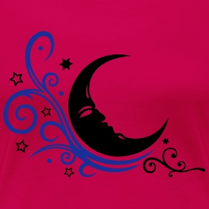 Large moon with Tribal and stars. - Women's Premium T-Shirt