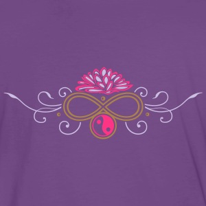 Large lotus flower with infinty and yin and yang - Men's Premium T-Shirt