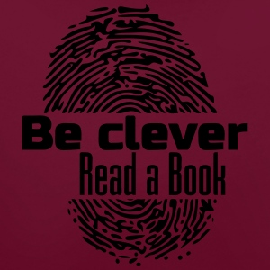 Be Clever - Read a Book - Contrast Colour Hoodie