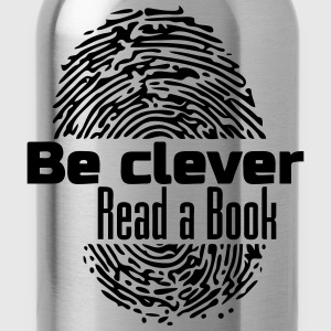 Be Clever - Read a Book - Water Bottle