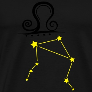 Astrological zodiac, libra, with stars. - Men's Premium T-Shirt