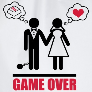 Game over,bachelor, party,Couples,Funny,Couple - Drawstring Bag