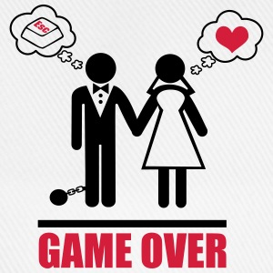 Game over,bachelor, party,Couples,Funny,Couple - Baseball Cap
