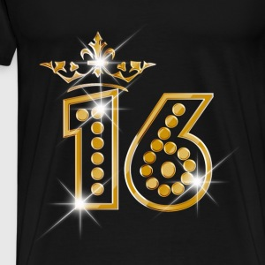 16 - Birthday - Queen - Gold - Burlesque Sweat-shirts - T-shirt Premium Homme