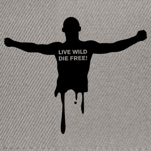 Gris chiné livewilddiefree Sweatshirts - Casquette snapback