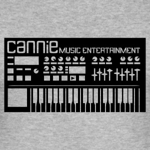 Grau meliert Synthesizer Keyboard Cannie Music Pullover - Männer Slim Fit T-Shirt