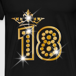 18 - Birthday - Queen - Gold - Burlesque Pullover & Hoodies - Männer Premium T-Shirt