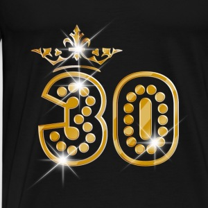 30 - Birthday - Queen - Gold - Burlesque Débardeurs - T-shirt Premium Homme