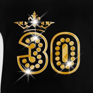 30 - Birthday - Queen - Gold - Burlesque T-Shirts - Baby T-Shirt