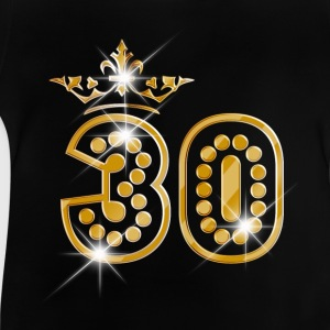 30 - Birthday - Queen - Gold - Burlesque Long Sleeve Shirts - Baby T-Shirt