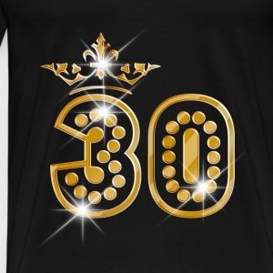 30 - Birthday - Queen - Gold - Burlesque Baby Langarmshirts - Männer Premium T-Shirt