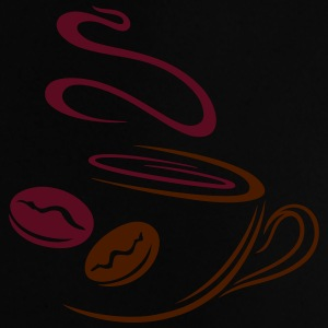 Large coffee cup with coffee beans. - Baby T-Shirt