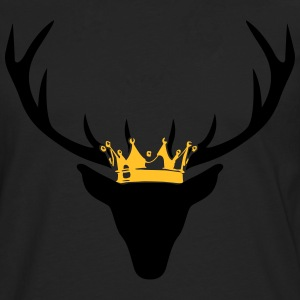 Stag with crown T-Shirts - Men's Premium Longsleeve Shirt