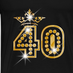 40 - Birthday - Queen - Gold - Burlesque Débardeurs - T-shirt Premium Homme