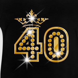 40 - Birthday - Queen - Gold - Burlesque T-Shirts - Baby T-Shirt