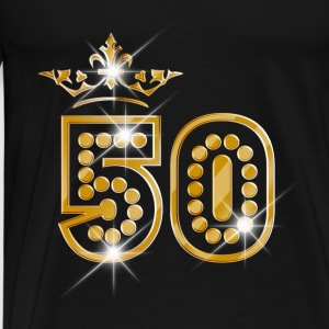 50 - Birthday - Queen - Gold - Burlesque Débardeurs - T-shirt Premium Homme
