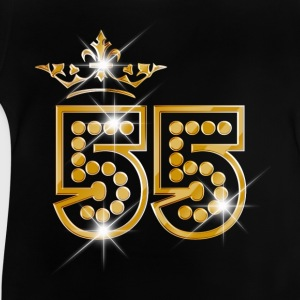 55 - Birthday - Queen - Gold - Burlesque T-Shirts - Baby T-Shirt