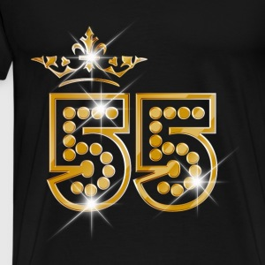 55 - Birthday - Queen - Gold - Burlesque Débardeurs - T-shirt Premium Homme
