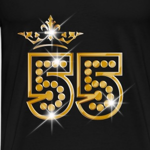 55 - Birthday - Queen - Gold - Burlesque Sportbekleidung - Männer Premium T-Shirt