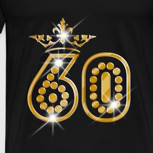 60 - Birthday - Queen - Gold - Burlesque Débardeurs - T-shirt Premium Homme
