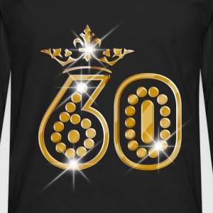 60 - Birthday - Queen - Gold - Burlesque T-shirts - Mannen Premium shirt met lange mouwen