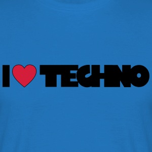 I love Techno Tops - Männer T-Shirt