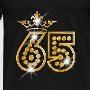 65 - Birthday - Queen - Gold - Burlesque Débardeurs - T-shirt Premium Homme