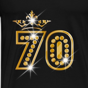 70 - Birthday - Queen - Gold - Burlesque Débardeurs - T-shirt Premium Homme