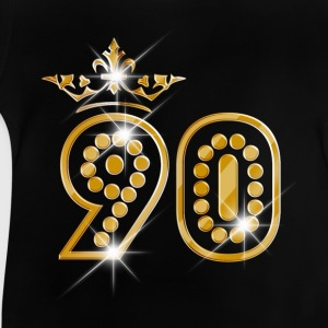 90 - Birthday - Queen - Gold - Burlesque T-shirts - Baby T-shirt