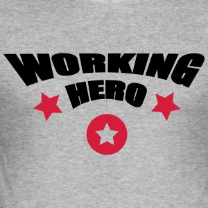 Working Hero Toppar - Slim Fit T-shirt herr