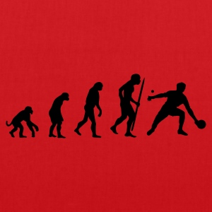 Rood Evolution of ping pong T-shirts - Tas van stof