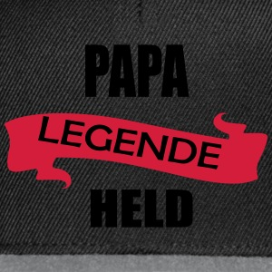 Papa Legende Held - Snapback Cap