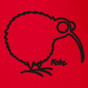 Red Kiwi Kids' Shirts - Organic Short-sleeved Baby Bodysuit