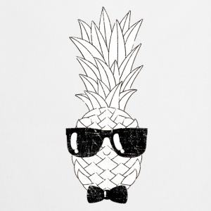 Pineapple With Sunglasses & Bow Tie Illustration T-shirts - Förkläde