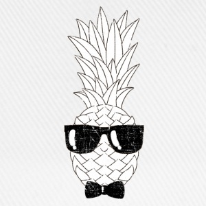 Pineapple With Sunglasses & Bow Tie Illustration T-shirts - Basebollkeps