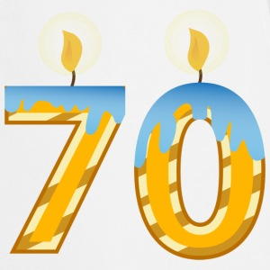 70th Birthday Candles - Cooking Apron