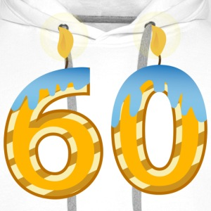 60th Birthday Candles - Men's Premium Hoodie