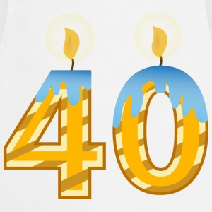 40th Birthday Candles - Cooking Apron