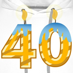 40th Birthday Candles - Men's Premium Hoodie